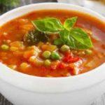 Суп «Минестроне» с лапшой