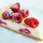 Лигурийский лимонный пирог с малиной