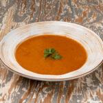 Крем-суп из сладкого перца и томатов